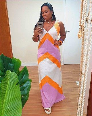Vestido Recortes Três Cores - Dress To