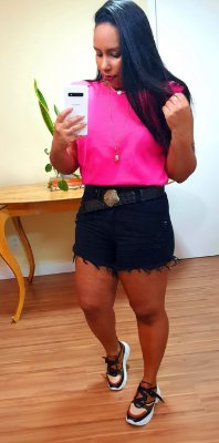 Short Jeans Preto Amassado