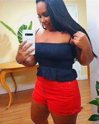 Blusa Dress to Alcinha com Lastex Preta