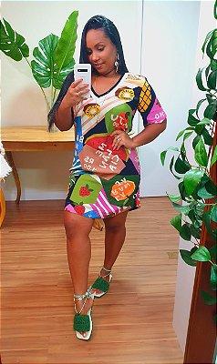Vestido Farm Tshirt Fruteira