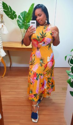 Vestido Farm Voo Colorido