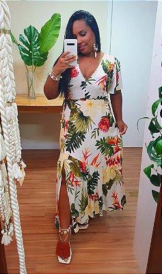 Vestido Farm Cropped Trópico das Flores