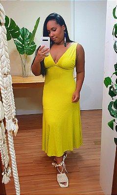 Vestido Farm Ribana Verde Lima