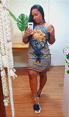 Vestido Farm Curto Lazuli Lenço
