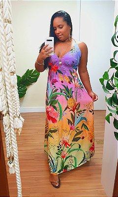Vestido Farm Cropped Flor de Onça