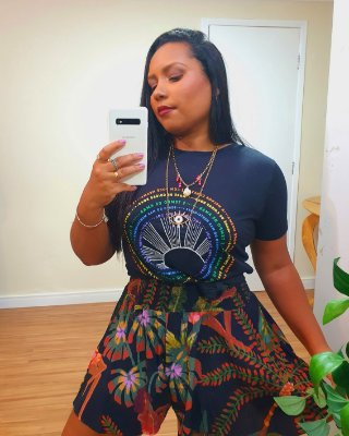 Blusa Silk Rainbow Dress to