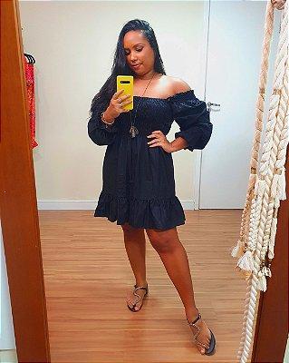 Vestido Lastex Maria Preto Dress To