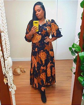 Vestido Cropped Estampa Alegria de Banana Farm