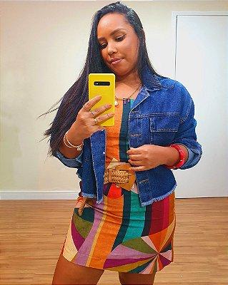Jaqueta Jeans Bolsos Dress To