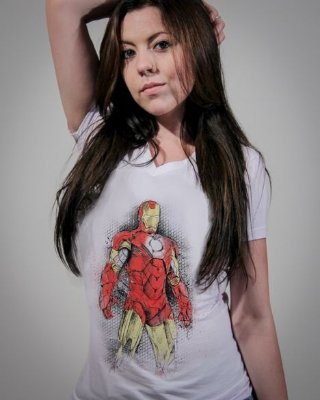 Camiseta Feminina Homem de Ferro