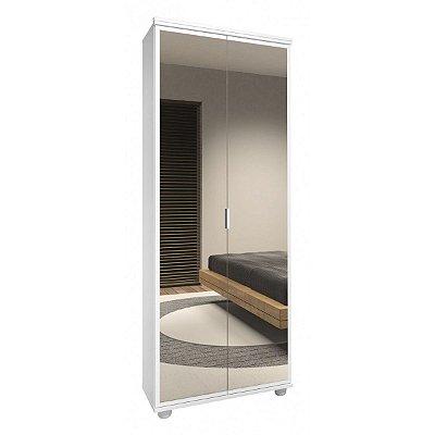 Sapateira 2 portas c/espelho Veneza - Branco