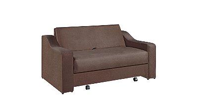 Sofá cama casal c/baú Versalles - Tecido animale itabirito