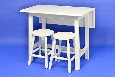 Mesa Elástica c/4 banquetas Kelly - Branco