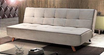 Sofá cama casal Albatroz - Tecido animale caramelo