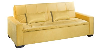 Sofá cama casal Senna - Tecido camurça cariacica