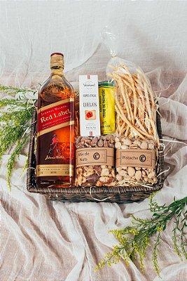 Cesta Whisky e Mix de Nuts