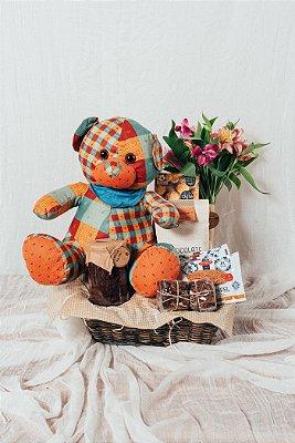 Cesta Urso e Flores