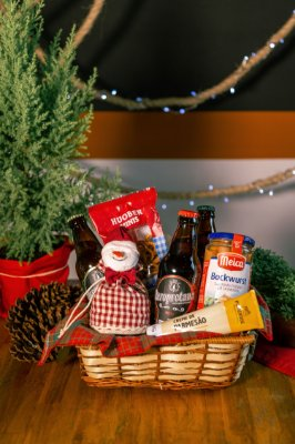 Cesta de Natal com Cerveja Artesanal