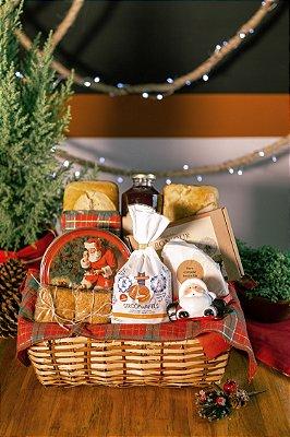Cesta com Biscoito Amanteigado de Natal