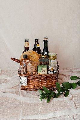 Cesta Cervejas e Azeitonas