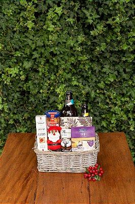 Cesta de Natal com Cerveja e Salsicha