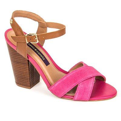 Sandália Pink Cravo e Canela