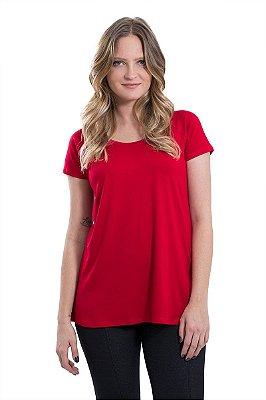 Blusa básica raglan - Vermelho Cereja