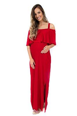 Vestido Amamentação Manoela – Vermelho