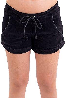 Shorts Comfy Plush - Preto
