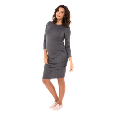 Vestido Gestante Midi Isabela - Mescla