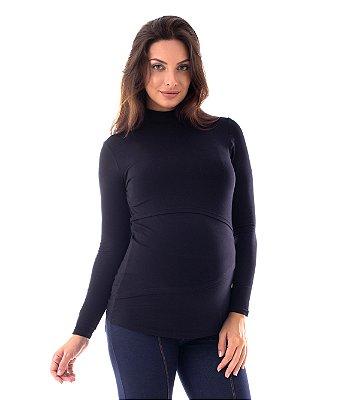Blusa Amamentação Carmen - Preta