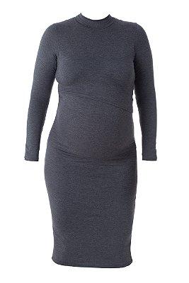 Vestido Amamentação Clara - Mescla