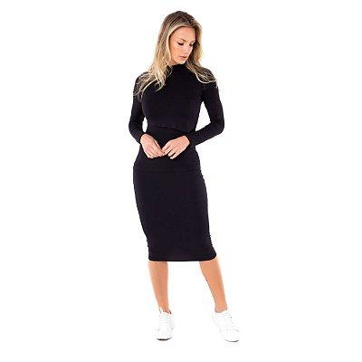 Vestido Amamentação Clara - Preto
