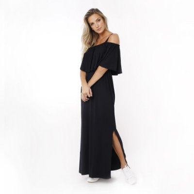Vestido Amamentação Manoela – Preto