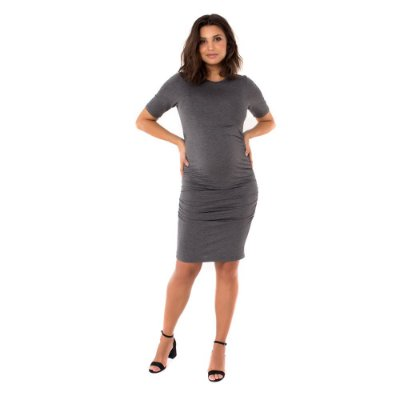 Vestido Gestante Midi Isa - Mescla