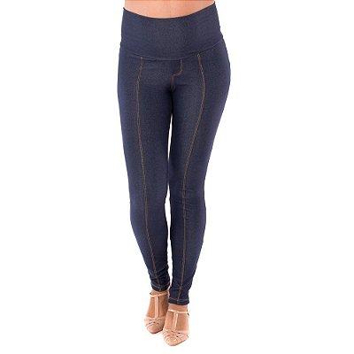 Legging Gestante Jeans de Moletom - Índigo