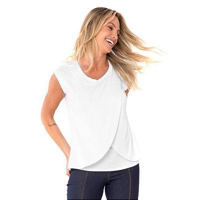 Camiseta Amamentação Cross - Branca