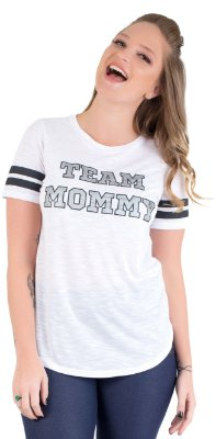 Camiseta Team Mommy - Branca