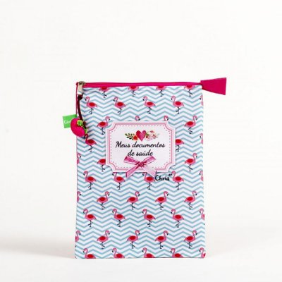 Porta documentos de saúde - Flamingo