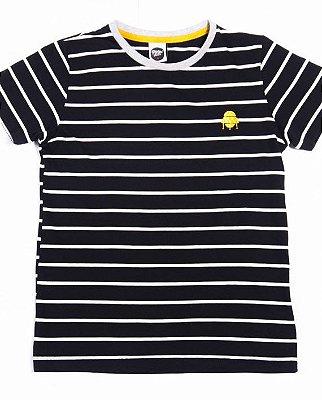 Camiseta Preta Listrada