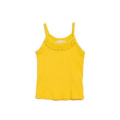 Rib Alça Fina Amarelo
