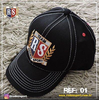 Boné Rodeo Sport Preto Ref 01