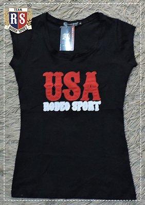 Babylook Rodeo Sport USA Feminina