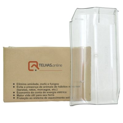 Kit Telha Americana Esmaltada (Piso) Terracota PET Injetada Caixa Com 10 Peças