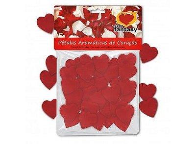 Pétalas de Coração Aromáticas - Embalagem com 60 Unidades