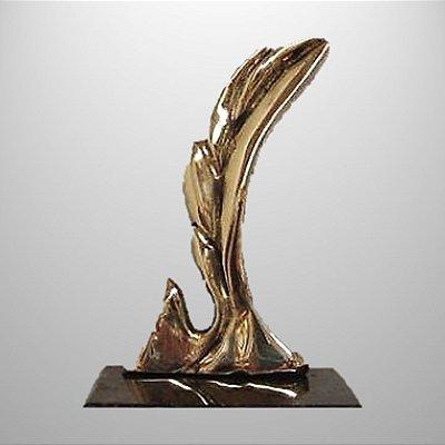 """""""Avançar"""" -bronze polido - 18 cm - c/várias opções de mensagem"""