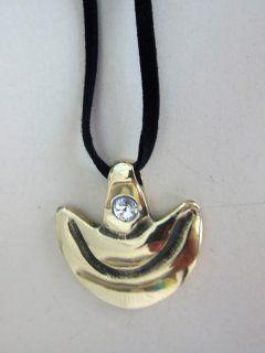 """""""Anjo da guarda"""" - 4 cm c- c/mensagem, cordão de camurça ecológica regulável  e cristal SWAROVSKI"""