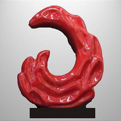 """""""Equilíbrio natural"""" Escultura em pó de mármore resinado - 60cm"""