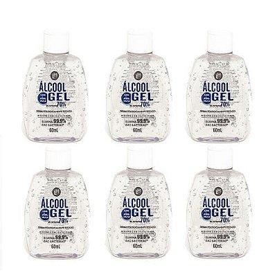 Álcool Gel ( 6unidades 60ml )