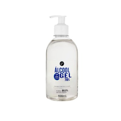 ÁLCOOL GEL 500ML COM VALVULA